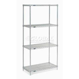 "Nexel Stainless Steel Wire Shelving 36""W X 24""D X 86""H by"
