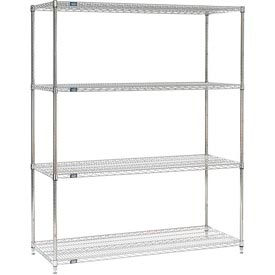 "Nexel Stainless Steel Wire Shelving 60""W X 24""D X 86""H by"