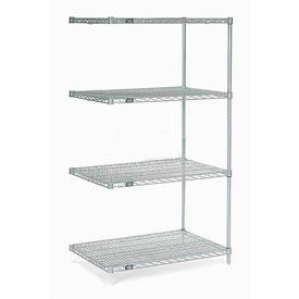 "Nexel Stainless Steel Wire Shelving Add-On 36""W X 18""D X 86""H by"