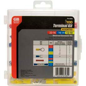 100 Piece Terminal Kit w/Reusable Storage Case by