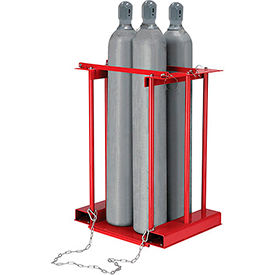 Forkliftable Cylinder storage Caddy, Stationary For 4 Cylinders