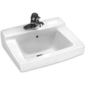 """American Standard Declyn 0321026.020 Wall Hung Square Lavatory Sink W/4"""" Centers"""