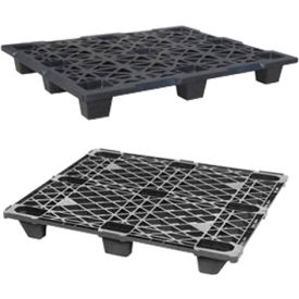Nestable Recycled Plastic Pallet 48 X 40 X 4.7, 1500 Lb. Capacity
