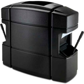 Waste 'N Wipe Service Center Double-Sided 40 Gallon, Black - 758701