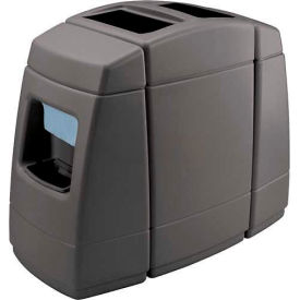 Haven 2 Double-Sided 55 Gallon Waste Windshield Center, Charcoal - 75820599