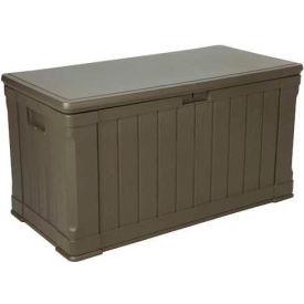 Lifetime 60089 Outdoor Deck Storage Box 116 Gallon, Brown