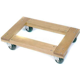 "Wesco® 36x24 Open Deck Hardwood Dolly 272069 4"" Casters 1200 Lb. Cap."