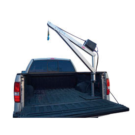 Spitzlift LBS15-4 Pickup Truck Crane | 20' Strap, Surface Mount & Pivot Base