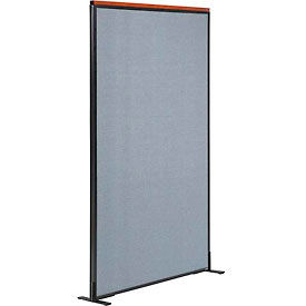 """Deluxe Freestanding Office Partition Panel, 36-1/4""""W x 73-1/2""""H, Blue"""