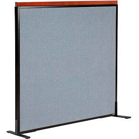 """Deluxe Freestanding Office Partition Panel, 48-1/4""""W x 43-1/2""""H, Blue"""