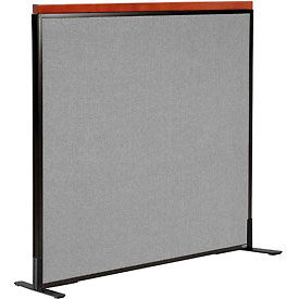 """Deluxe Freestanding Office Partition Panel, 48-1/4""""W x 43-1/2""""H, Gray"""