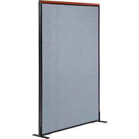"""Deluxe Freestanding Office Partition Panel, 48-1/4""""W x 61-1/2""""H, Blue"""