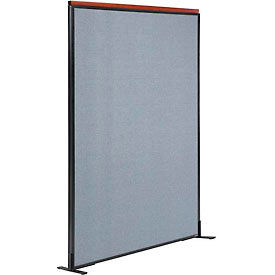 "Deluxe Freestanding Office Partition Panel, 48-1/4""W x 73-1/2""H, Blue"