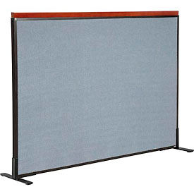 """Deluxe Freestanding Office Partition Panel, 60-1/4""""W x 43-1/2""""H, Blue"""