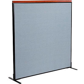 "Deluxe Freestanding Office Partition Panel, 60-1/4""W x 61-1/2""H, Blue"