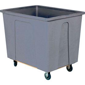 "Wesco® Plastic Box Truck 4 Bushel Gray 272503 5"" Casters"