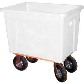 "Wesco® Plastic Box Truck 4 Bushel White 272540 8"" Casters"