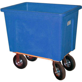 "Wesco® Plastic Box Truck 8 Bushel Blue 272536 8"" Casters"