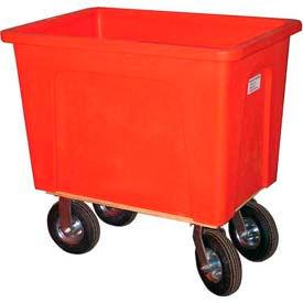 "Wesco® Plastic Box Truck 12 Bushel Red 272547 8"" Casters"