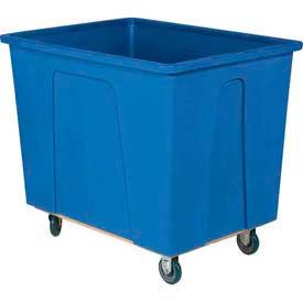 "Wesco® Plastic Box Truck 16 Bushel Blue 272519 5"" Casters"