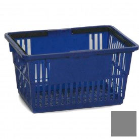 "Plastic Shopping Basket with Plastic Handle, Standard, 17""L X 12""W X 9""H, Gray, Good L Corp. ® - Pkg Qty 12"