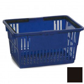 "Plastic Shopping Basket with Plastic Handle, Standard, 17""L X 12""W X 9""H, Black, Good L Corp. ® - Pkg Qty 12"