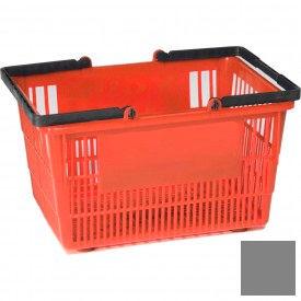 "Plastic Shopping Basket with Plastic Handle, Tall, 16""L X 12""W X 10""H, Gray, Good L Corp. ® - Pkg Qty 12"