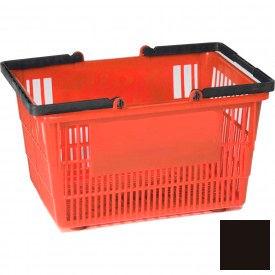 "Plastic Shopping Basket with Plastic Handle, Tall, 16""L X 12""W X 10""H, Black, Good L Corp. ® - Pkg Qty 12"