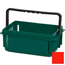 "Plastic Shopping Basket with Plastic Handle, Mini, 12""L X 8""W X 5""H, Red, Good L Corp. ® - Pkg Qty 12"