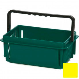 "Plastic Shopping Basket with Plastic Handle, Mini, 12""L X 8""W X 5""H, Yellow, Good L Corp. ® - Pkg Qty 12"