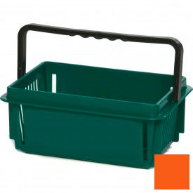 "Plastic Shopping Basket with Plastic Handle, Mini, 12""L X 8""W X 5""H, Orange, Good L Corp. ® - Pkg Qty 12"
