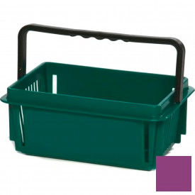 "Plastic Shopping Basket with Plastic Handle, Mini, 12""L X 8""W X 5""H, Grape, Good L Corp. ® - Pkg Qty 12"