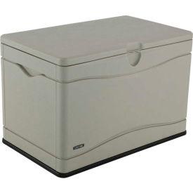 Lifetime 60059 Outdoor Deck Storage Box 80 Gallon. Sand w/Black Bottom