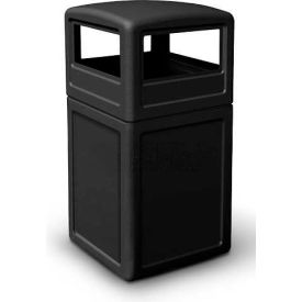 42 Gallon Square Waste Container with Dome Lid, Black - 73290199