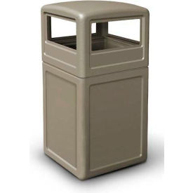 42 Gallon Square Waste Container with Dome Lid, Beige - 73290299