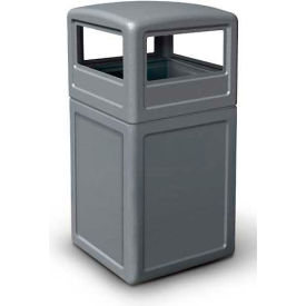 42 Gallon Square Waste Container with Dome Lid, Gray - 73290399