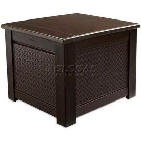 "Rubbermaid 1Q05 Patio Chic Storage Cube Deck Box, 28.5""L x 28.5""W x 23.5""H, Dark Teak"