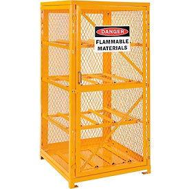 Cylinder Storage Cabinet Single Door Horizontal, 8 Cylinder Capacity