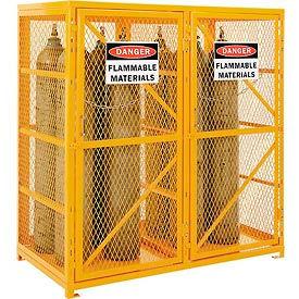 Cylinder Storage Cabinet Double Door Vertical, 18 Cylinder Capacity