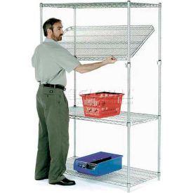 Quick Adjust Wire Shelving 48 x 24 x 74 - Poly-Z-Brite