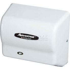 American Dryer Advantage Series Hand Dryer W/ Universal Voltage 100-240V - White ABS AD90