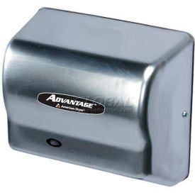 American Dryer Advantage Series Hand Dryer W/ Universal Voltage 100-240V - Stainless Steel AD90-SS