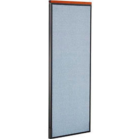 "Deluxe Office Partition Panel, 24-1/4""W x 61-1/2""H, Blue"