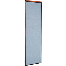 """Deluxe Office Partition Panel, 24-1/4""""W x 73-1/2""""H, Blue"""