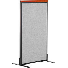 "Deluxe Freestanding Office Partition Panel, 24-1/4""W x 43-1/2""H, Gray"