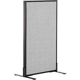 "Freestanding Office Partition Panel, 24-1/4""W x 42""H, Gray"