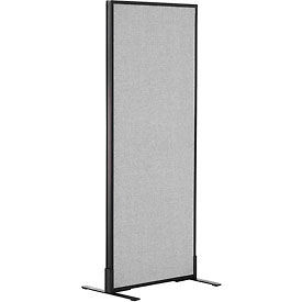 "Freestanding Office Partition Panel, 24-1/4""W x 60""H, Gray"