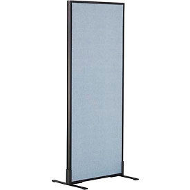 "Freestanding Office Partition Panel, 24-1/4""W x 60""H, Blue"