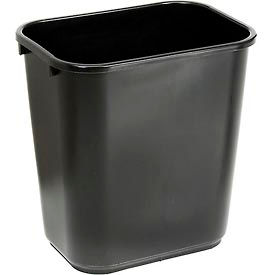 Global Industrial™ 28-1/8 Qt. Plastic Wastebasket - Black