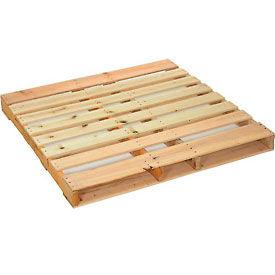 "New Hard Wood Pallet 48"" x 48"" x 4-1/2"""